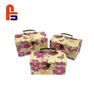 China Flowery Suitcase Big Cardboard Boxes CMYK Color Cardboard Storage Boxes on sale