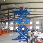 Blue Color Hydraulic Freight Elevator Goods Lift For Warehouse , 2 Years Warranty