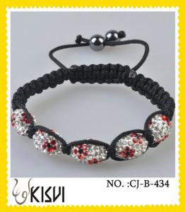 China Quality guarantee & competitive price czekh crystal + AB clay crystal beaded bracelet on sale