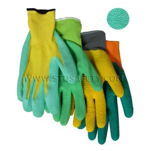 China Foam Finish nature latex coated gloves on sale