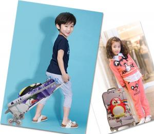 China Boys Lovely Travel Kids Rolling Luggage Case Shock Absorption on sale
