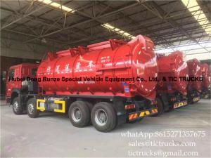 China 18000 litres howo 8x4 sludge suction truck  Euro 4   Cell: 0086 152 7135 7675 on sale