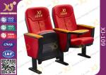 Standard Design Ergonomic Back Rest Movie Theater Chairs With Logo On Seat Back