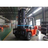 FD100T Diesel Industrial Forklift Truck 2 Stage 3m Container Mast With Adjustable Fork