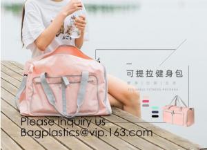 China Yoga Sports duffle bag,Travel storage bag,Water Resistant Nylon Fabric,Travel cosmetic bag sensor wall lights travel duf on sale