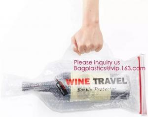 China Bottle Protector Bubble Travel Bag,Travel Trip Bag With Bubble Inside And Double Ziplocks,Sleeve Travel Bag - Inner Skin on sale