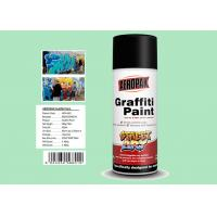 China Fan Nozzle Graffiti Spray Paint Light Green Color For Wall Art APK-6601-11 on sale