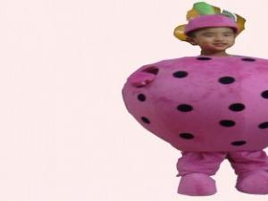 Quality fruit fancy dress of strawberry advertising mascot cartoon cosplay costumes for sale