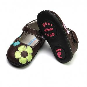 China Freycoo Soft sole leather baby shoes on sale