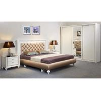 E1 Board High Gloss Bedroom Furniture /Three Door Sliding Wardrobes With Mirror