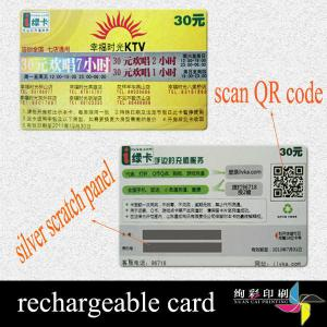 China Magnetic Stripe Paper Personalized Scratch Off Cards , Draw Learn Card on sale