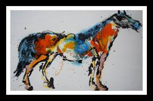 China Custom Paper / Canvas Animal Oil Painting Prints Mounted On Frame on sale