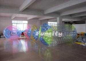 China Multiple Color Inflatable Water Roller with Colourful Cable Loop for Kids and Adults on sale
