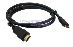 China 19P Male Pin Gold HDMI To HDMI Cable In Insulator Type , 1080P HDMI1.4 Cables on sale