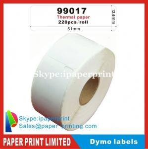 China Dymo Labels 99017 9017 DYMO/Turbo compatible labels 51x12.5mm 220 labels/roll on sale