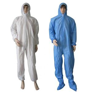 China S M L Xl Xxl Disposable Dust Suits , Disposable Work Overalls Fast Delivery on sale