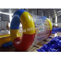 Crazy Fun Airtight 0.8mm PVC / TPU Blow Up Water Rolling Toy For Swimming Pool