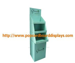 China Trade Show Cardboard Display Stand For Magazine / Newspaper , Portable on sale