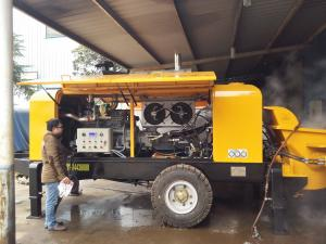 China High Efficiency Diesel Concrete Pump Oil Absorption And Oil Return Filtration Technology on sale