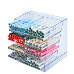 Clear acrylic pen holder, transparent lucite pen display stand for shop