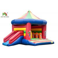 China 3 In 1 5.2 x 6.9m Blow Up Jumping Castle With Arch And Roof / Kids Inflatable Jumping Slide on sale
