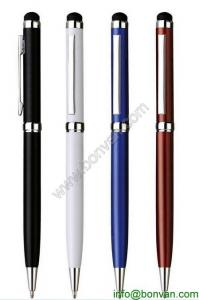 China Twist Action Ballpoint Pen W/ Capacitive Stylus, metal Capacitive pen for gift on sale
