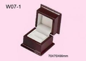 China Red Aspen Wood Jewelry Packaging Boxes Glossy Painting on sale