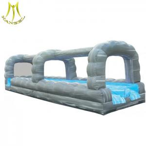 China Hansel   outdoor amusement for sales giant inflatable water slide with swimming pool on sale