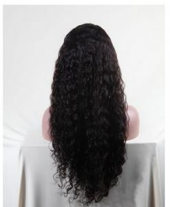 China Remy Brazilian Human Hair deep curly virgin hair 1b# 2# 4# / Wavy Lace Front Wigs on sale