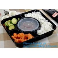 stackable airtight food tray 5 compartments,Professional design plastic sea food container,6 Compartment Food Tray pack