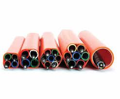 China Flexible Sheath Hdpe Conduit Pipe Dust Proof For Fiber Optical Cable Blowing on sale