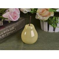Pearl Glazed Ceramic Pear Dining Kitchen Room Table Centerpiece Fruit Decoration