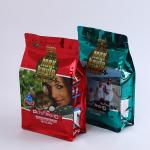 Custom Printed Flat Bottom Stand Up Side Gusset Zip Pouch For Pet Food Square Bottom Pet Treat Food Bag 1kg Printed