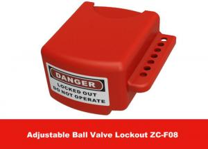 China OEM Red Color 3 Lock Holes 210G Adjustable Flanged Ball Valve Lock Out on sale