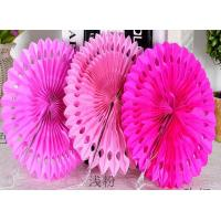 China Party Decoration Customized Hot Sale Tissue Paper Fans Hanging Paper Fan for Wedding Decorations on sale