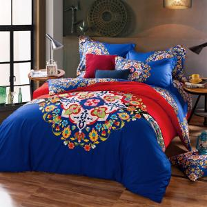 China Cotton Hotel Collection 6 Piece Bedding Comforter Sets Embroidered Flower Queen Size on sale