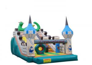 China Cartoon Dragon Inflatable Slippery Slide , Floating Water Slide Sturdy Structure on sale