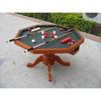 3 In 1 Poker Game Table Solid Wood Bumper Pool Poker Table For Tournament