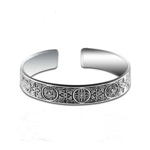 China Retro Sterling Silver Cuff Bangle Bracelet for Men and Women (XH056470W) on sale