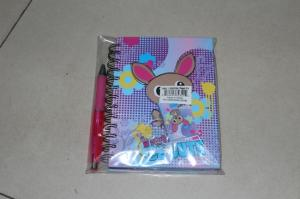 China Hard Cover Spiral Bound Book Printing Matte Lamination with Pen on sale