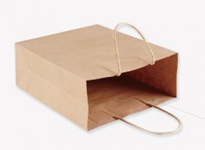 China Kraft Paper Shopping Bags , 6\X10\ #0 Paper Gift Bags With Handles Water Resistant on sale