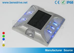 China Durable 2-Side Reflective Solar Road Studs,  Cost Effective Raised Pavement Markers Aluminum Alloy on sale