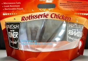 China Hot Deli bag Chicken stand up pouch bag, matt transparent frozen chicken BOPP/CPP packaging bag, Hot Chicken bag on sale