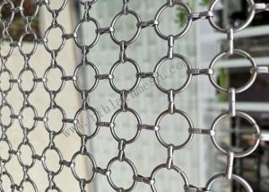 China SS304 Decorative Ring Metal Wire Mesh For Partition Wall Fabrication on sale