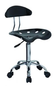 China Black Swivel Bar Stools With Wheels , Adjustable Rolling Stool Plastic Material on sale
