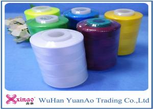 China 40/2 Bright Industrial Sewing Machine Thread 3000 Yarn on Plastic Cone, Spun Ring Thread on sale