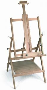 China Pine Wide Folding Art Easel Stand , Horizontally Oil Painting Easels For Adults on sale