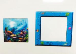 China CMYK Printing PP / PET Lenticular 3D Fridge Magnets For Home Decration on sale