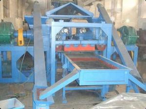 China 3kw Waste Tire Recycling Machine / Equipment With Vibrating Screener , 200 - 600kgs/h on sale