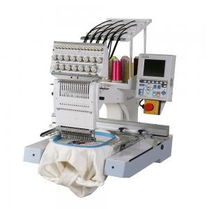 China Industrial Computerized Single Head Multi Needle Embroidery Machine For Both Clothes And Caps on sale